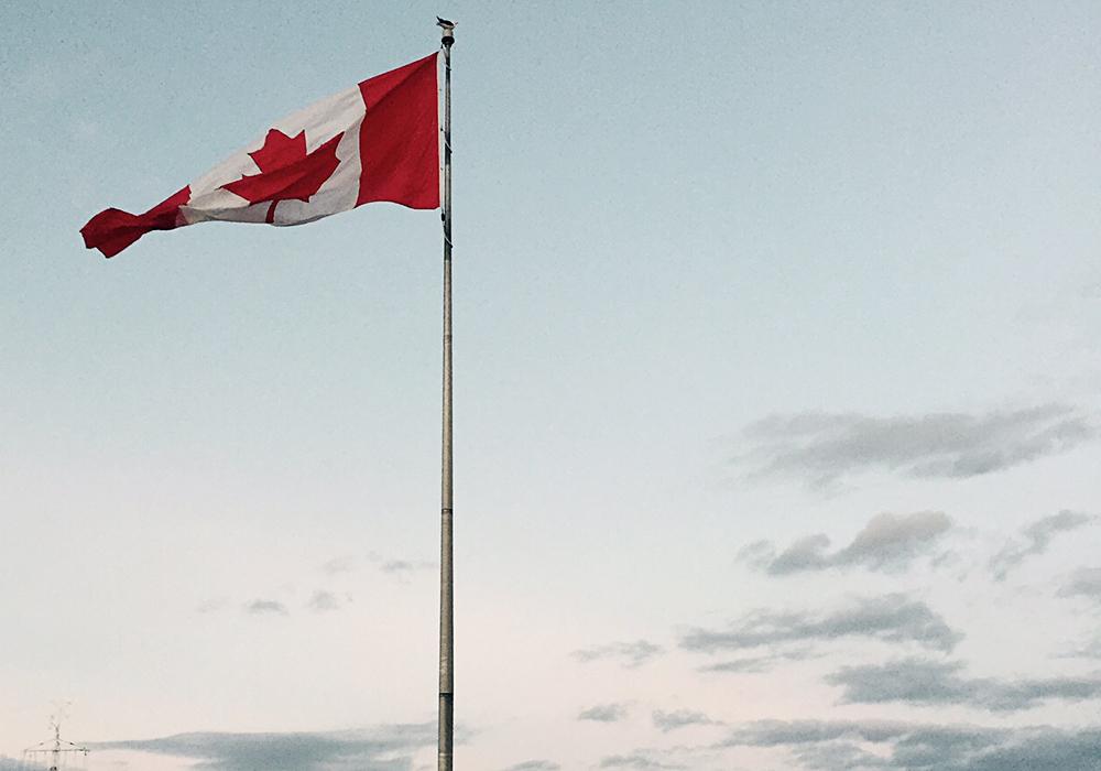 Die winkenden Canadier