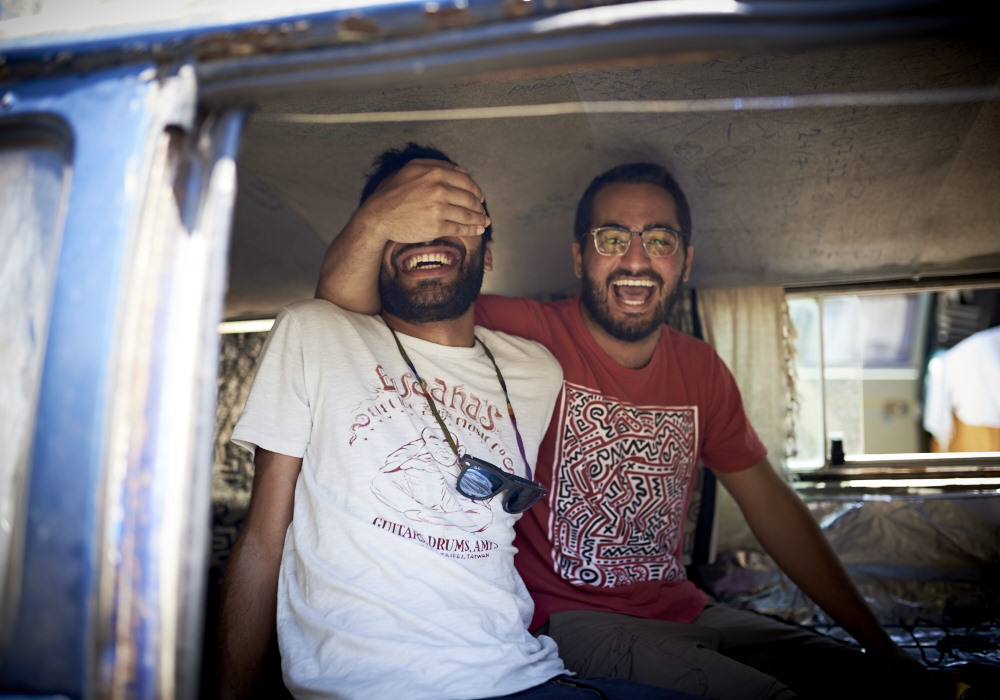 Shasha & Arash lachen